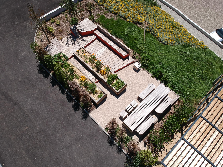 KTR conception paysagère Lyon entreprise espace convivial agriculture urbaine