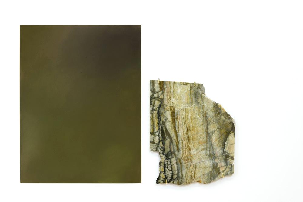 Miroir-fenêtre i, 2017 - Pastel sec sur papier et marbre - 65 cm x 50 cm, dimensions variables